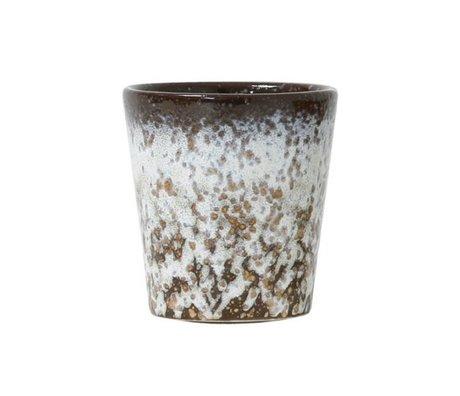 HK-living Mug Mud 70's style multicolour ceramic 7,5x7,5x8cm