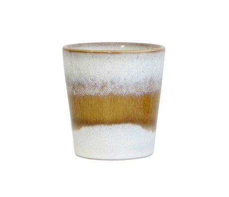 HK-living Mug Snow 70's style multicolour ceramic 7,5x7,5x8cm