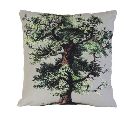 HK-living Kiss' big oak tree white cotton 45x45cm