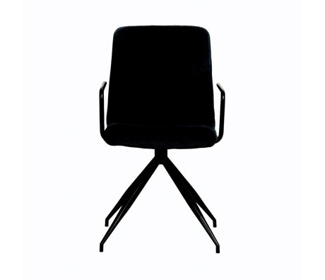 LEF collections Dining chair Spike charcoal textile 50x56x87cm