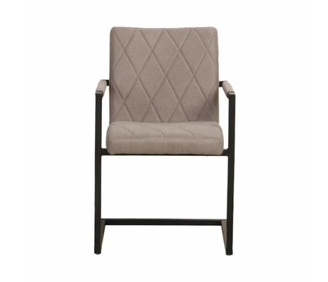 LEF collections Dining chair Denmark taupe brown textile 55x55x85cm