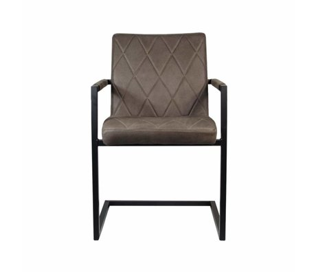 LEF collections Dining chair Denmark truffle brown textile 55x55x85cm