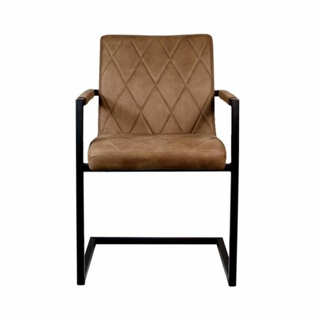 LEF collections Dining chair Denmark brown textile 55x55x85cm