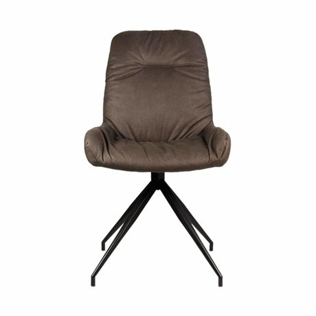 LEF collections Dining chair Winner truffle brown textile 52x59x95,5cm