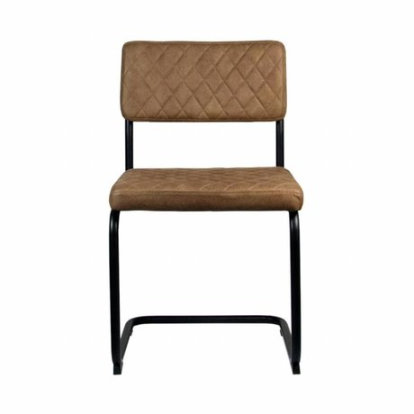 LEF collections Dining Chair Bow braun Textil 49x55x85cm