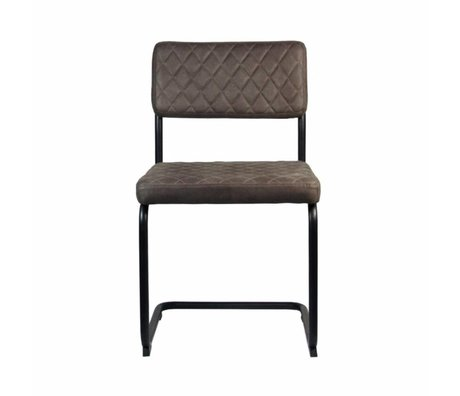 LEF collections Dining Chair Bow Trüffel braun Textil 49x55x85cm