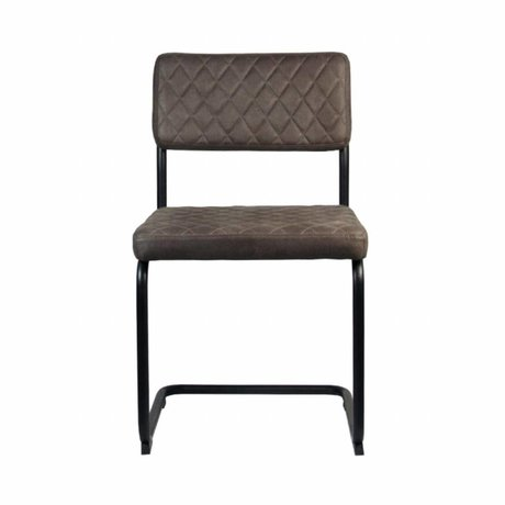 LEF collections Dining Chair Bow truffle brown textile 49x55x85cm