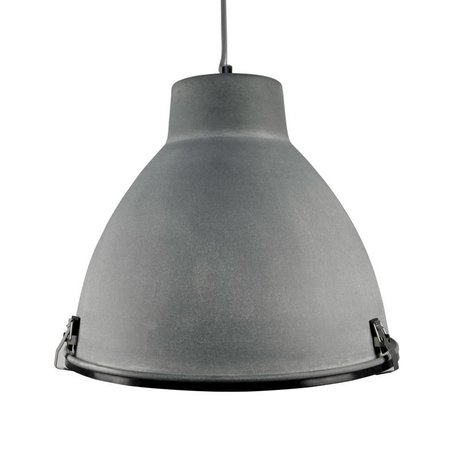 LEF collections Hanging lamp industry concrete gray metal 42x42x37cm