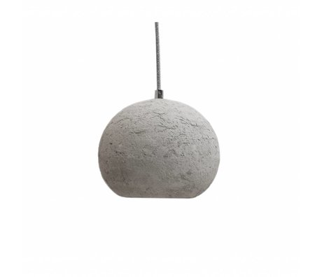 LEF collections Hanging lamp bulb gray concrete 20x20x15cm