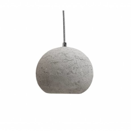LEF collections Hanglamp bol grijs beton 20x20x15cm