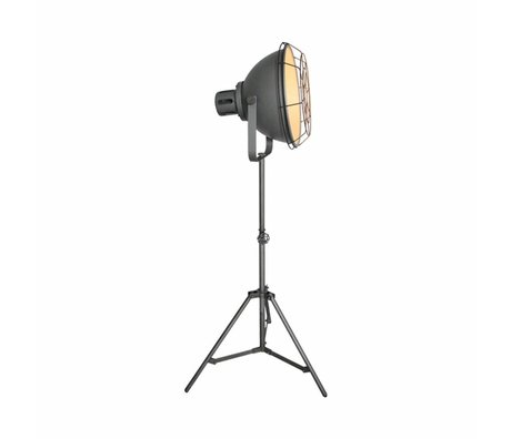 LEF collections Stehlampe max grau Metall 51x40x165cm