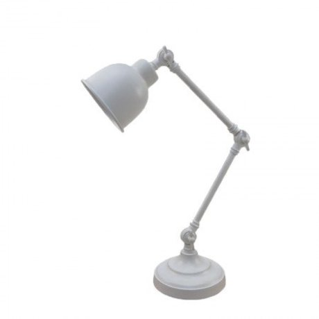 LEF collections Table lamp office retro white metal 14x20x45cm
