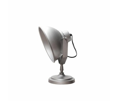 LEF collections Table Lamp urban antique gray metal 26x18x32cm