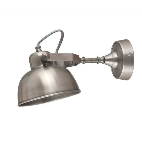 LEF collections Wall lamp giens silver metal XL 16x30x15cm