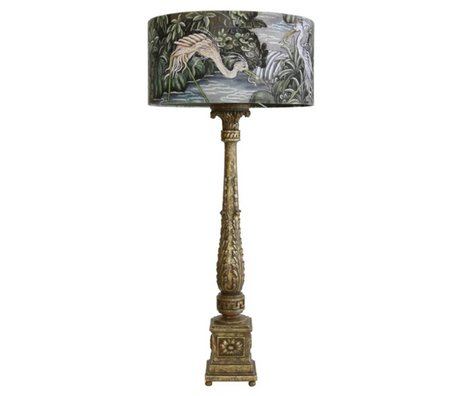 HK-living Table lamp baroque jungle multicolored plastic cotton 40x40x89cm