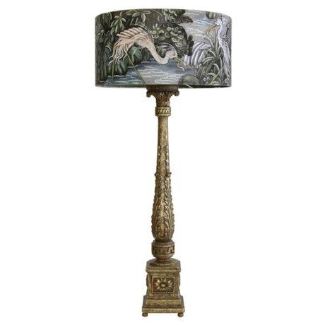 HK-living Lampe de table jungle baroque plastique multicolore 40x40x89cm coton