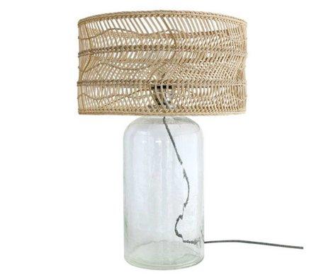 HK-living Tischleuchte Flasche brauner Rohrglas 40x40x59cm
