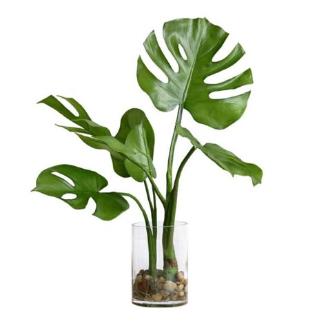 HK-living Monstera Dekoration Vase 59x55x59cm
