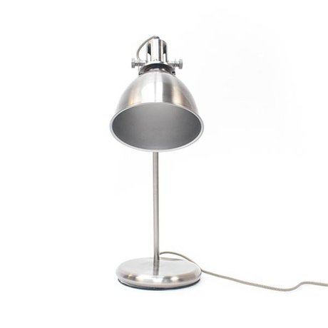 LEF collections Table Lamp Spot antique silver metal 18x29x57cm