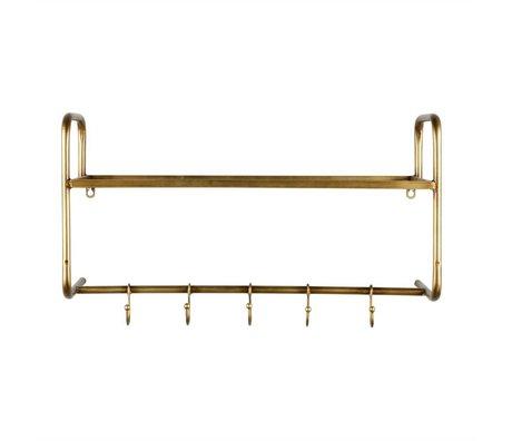 BePureHome Kleiderständer Hatstand Gold Metall 40x63x23cm