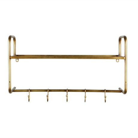 BePureHome Coat rack Hatstand gold metal 40x63x23cm
