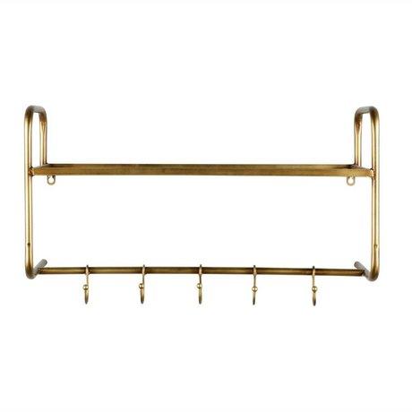 BePureHome Kapstok Hatstand goud metaal 40x63x23cm