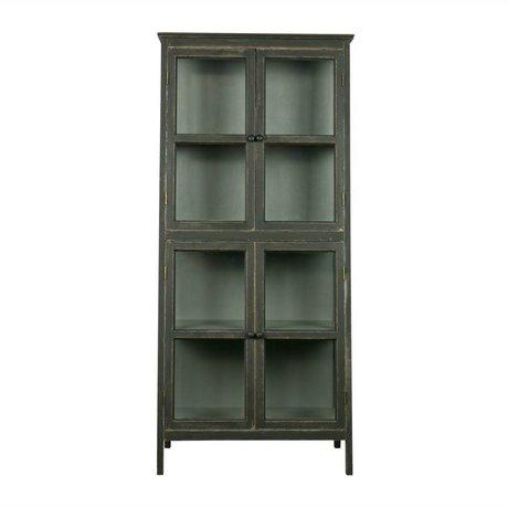 BePureHome Vitrine Herritage 173x79x45,5cm bois noir