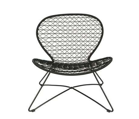 BePureHome Armchair / garden chair Quadro black plastic 80x74x71cm