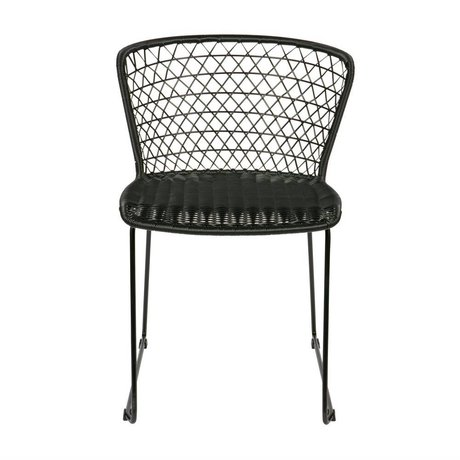BePureHome Dining chair Quadro black plastic 77x54x56cm