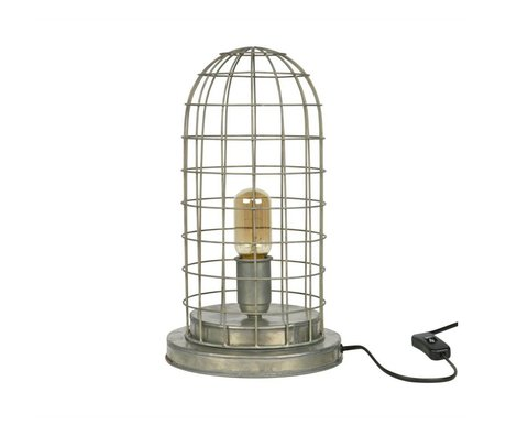 BePureHome Table Lamp Hive cage silver metal 37xØ20cm