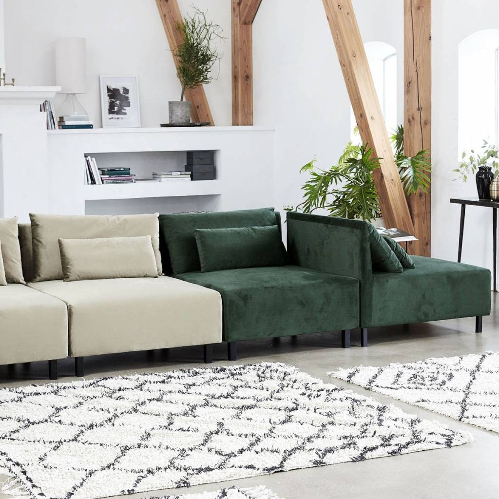 housedoctor sofa 2 cushions box belunga groen metaal. Black Bedroom Furniture Sets. Home Design Ideas