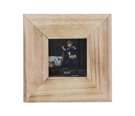 BePureHome Smile taupe wood frame 21x21x4cm
