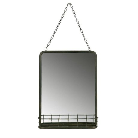 BePureHome Speak Spiegel schwarz Metall 46,5x35x10cm