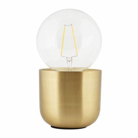 Housedoctor Tafellamp Gleam geel koper, koper 12x12x10,5cm