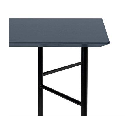Ferm Living Tabletop Mingle dunkelgrau Holz Linoleum 65x135x2cm