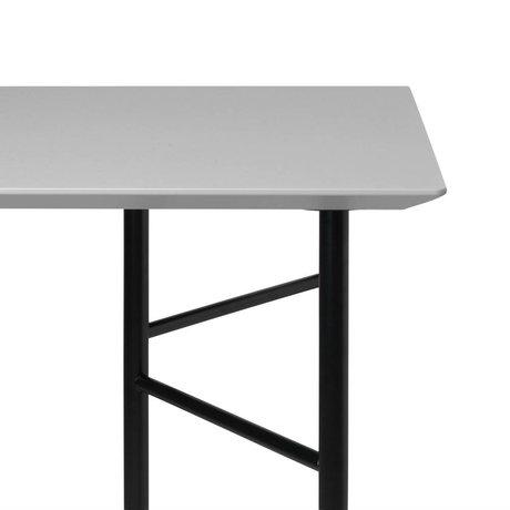 Ferm Living Tafelblad Mingle licht grijs hout linoleum 90x160x2cm