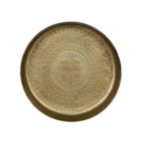 BePureHome Dienblad Small Waitress brass gold metal 5,5xØ30cm