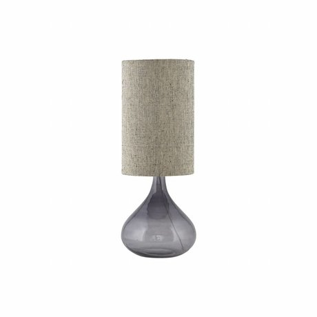Housedoctor Table Lamp Med gray glass 26x26x34cm