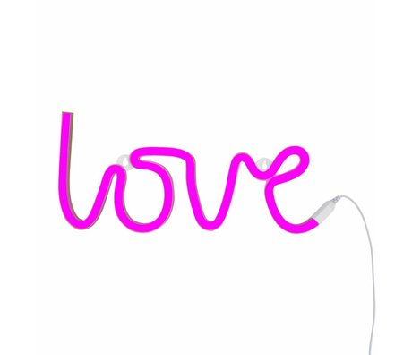 A Little Lovely Company Lampe Liebe neon pink 38x16cm
