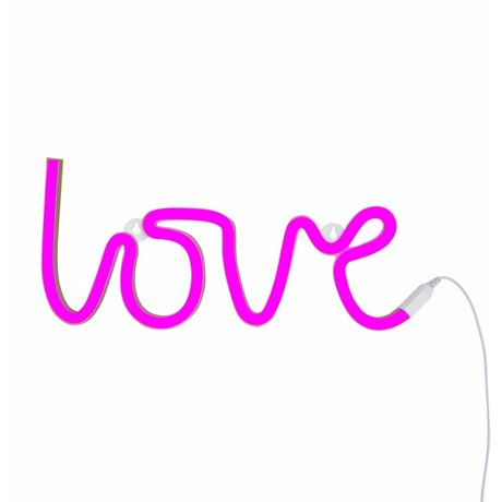 A Little Lovely Company Lamp neon love roze 38x16cm
