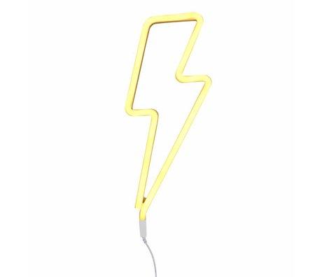 A Little Lovely Company Lamp neon bliksem geel 41x17cm