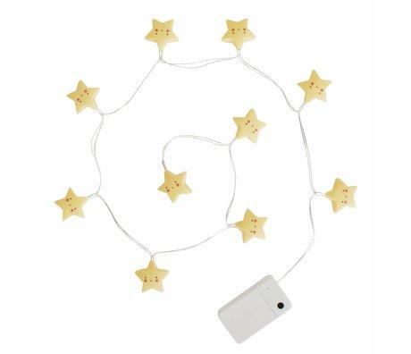 A Little Lovely Company Light Chain 1.1m de l'étoile jaune