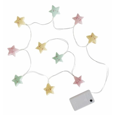A Little Lovely Company Light Chain star pastel 1.1m