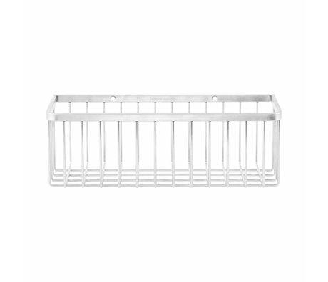 Housedoctor Basket Bad Einzel graues Metall 28x11,5x9,5cm