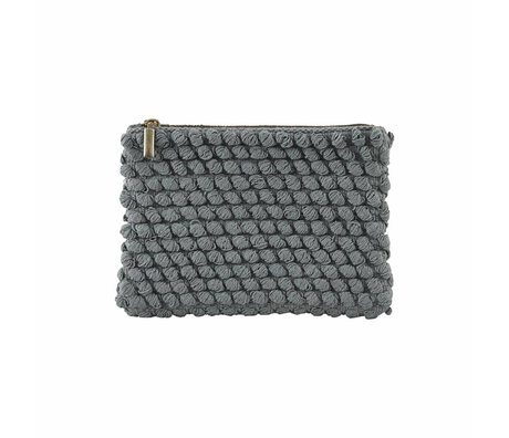 Housedoctor Clutch Tofted gray cotton 22x15cm
