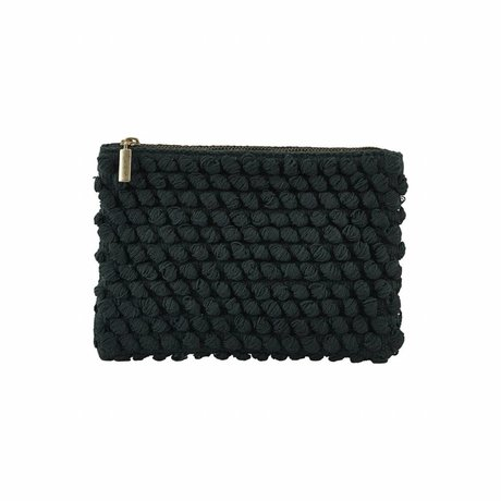Housedoctor Clutch Tofted green cotton 22x15cm