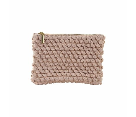 Housedoctor Clutch Tofted pink cotton 22x15cm