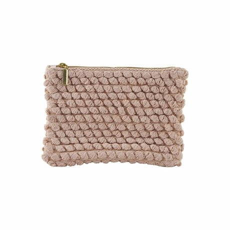 Housedoctor Clutch Tofted rosa Baumwolle 22x15cm