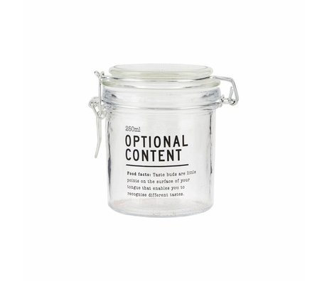 Housedoctor Optional Glas Inhalt 8,3x8,3x10 cm 250ml