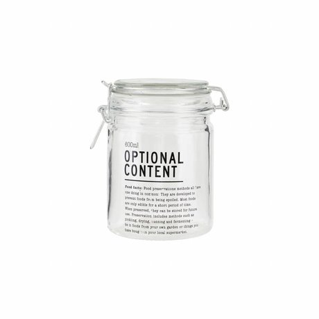 Housedoctor Jar Optional Content glas 10x10x14,5cm 600ml